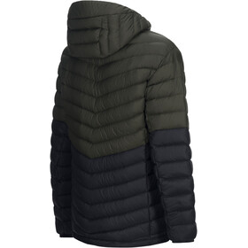 Peak Performance Frost Blocket Down Hooded Jacket Men Forest Night